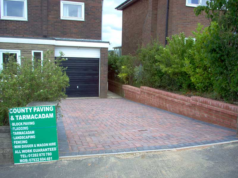 Walling & Block paving in Briercliffe