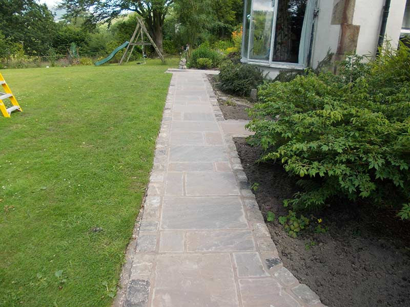 Indian flagstone Pathway